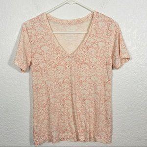 Lucky Brand Venice Floral V Neck Shirt XS